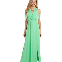 Vince Camuto Metal-Neck Maxi Dress - Spring Green