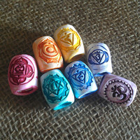 Chakra Dread Beads Set of 7