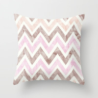 Happy Hearts Throw Pillow by Pink Berry Pattern