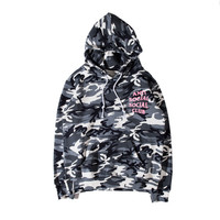 The New ANTI SOCIAL SOCIAL CLUB The Snow Camo Hooded Sweatshirt Drawstring Men And Women Hoodie S-XL