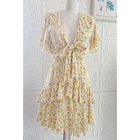 By Together Floral Tie Mini Dress