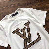 Louis Vuitton patchwork embroidered T-shirt White