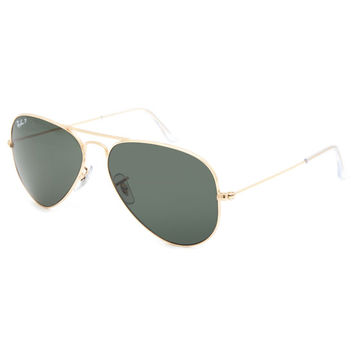 Ray-Ban Aviator Polarized Sunglasses Gold One Size For Men 25513762101