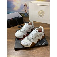 Versace Women's Leather Fashion Low Top Sneakers Shoes