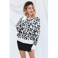 Adella Sweater-Snow Leopard