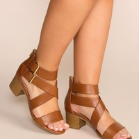 Never Forgotten Tan Low Block Heels