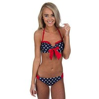 Star Spangled Bandeau in Navy Star by Lauren James