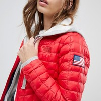 The North Face International Thermoball Jacket In Red at asos.com