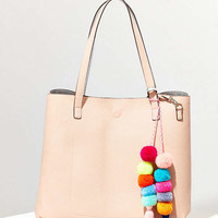 Reversible Pompom Tote Bag | Urban Outfitters