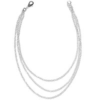Handcrafted Silver Plated 3 Chain Anklet | Body Candy Body Jewelry