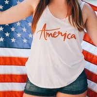 America Slouchy Tank - Chelcey Tate Designs