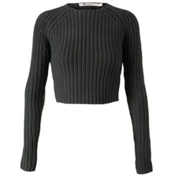 T BY ALEXANDER WANG Cropped Fisherman'S Knit