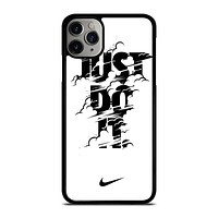 NIKE LOGO JUST DO IT GLITCH BLACK iPhone 11 Pro Max Case