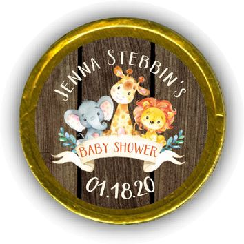 Jungle Baby Shower Chocolate Coins