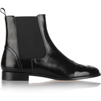 Charlotte Olympia - Chelsea Cats leather ankle boots