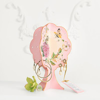 Pink Floral Earring Tree, Holder, Organizer. Holds approx 17 pairs and more