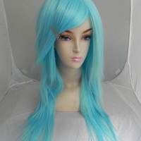 ON SALE / Cotton Candy Blue / Long Straight Layered Wig