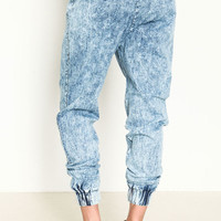 ACID WASH DRAWSTRING JOGGERS