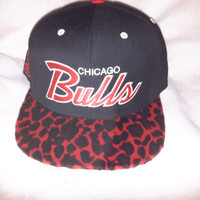 Chicago Bulls Red Leopard Print snapback