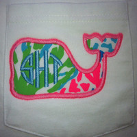 Lilly Pulitzer Monogram Pocket Whale Tee