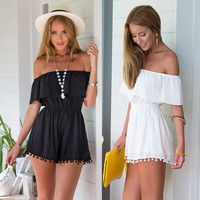 Off-shoulder Romper