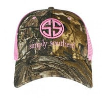 Simply Southern Camouflage Snap Back Hat - Pink