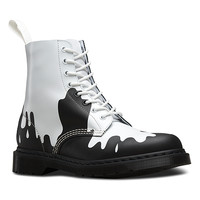 Dr. Martens Pascal 8-Eye Boot | Women's - White/Black Paint Splat Softy T
