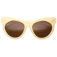 Women's Oversize Flat Front Cat Eye Sunglasses A181