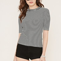 Striped Mock Neck Top | Forever 21 - 2000152969
