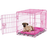You & Me 2-Door Dog Training Crate, Pink | Petco