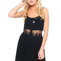 See It Through Dress - Black