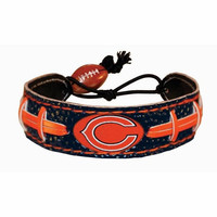 Gamewear NFL Leather Wrist Band - Chicago Bears - Team Colors