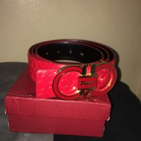 Salvatore Ferragamo Men's Red Belt