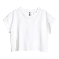 H&M - Cropped Jersey Top