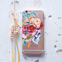 Skull Flower iPhone 5s Case iPhone 6 Plus Case iPhone 6 Case iPhone 4 Case Samsung Galaxy S6 Samsung S4 Case Note 4 Case Note 5 Case 183