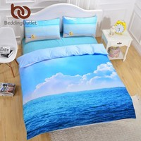 Cool BeddingOutlet Starfish And Ocean Bedding Set Cool 3D Print Duvet Cover Set 3pcs Twin Queen King Size Bed Cover 2017 HotAT_93_12