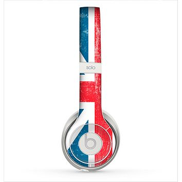 The Scratched Surface London England Flag Skin for the Beats by Dre Solo 2 Headphones