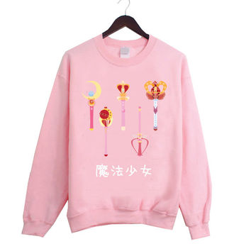 Magical Girl Fashion Sweater inspired by Japanese Anime Sailor Moon! 4 Colors Available!