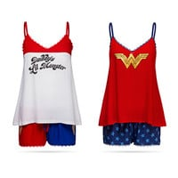 DC Comics Lace Tank and Shorts Sleep Set