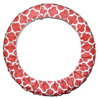 Coral Steering Wheel Cover-Car Accessory-Girly Car Decor-Steer Wheel Cover-Cute Car Accessory