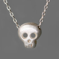 Michelle Chang - Sterling Baby Skull Necklace