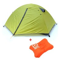 Tera 3 Season 2 Person Camping Tent Double Layer Waterproof Windproof Hiking Outdoor with Inflatable Air Bed Travel Pillow:Amazon:Sports & Outdoors
