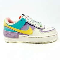Nike Air Force 1 AF1 Shadow Pale Ivory Celestial Gold Womens Size 5 CI0919 101