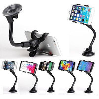 Goose Neck Car Mount Phone Holder Suction Stand for Apple iPhone 4 5 6 6s Plus SE