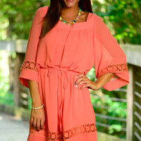 Ring My Bell Dress, Coral