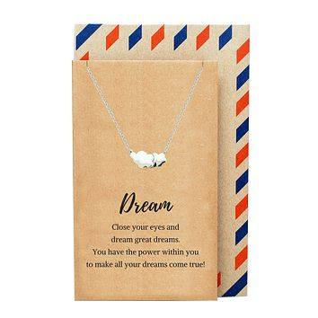 Ceres Cloud Necklace, Inspirational Jewelry and Greeting Card
