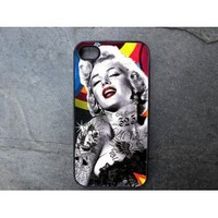 Marilyn Monroe with Tattoos Decorated iPhone 5 Case - P246