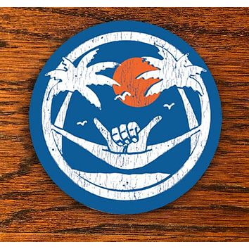 Shaka Sundown - Blue - All weather vinyl sticker