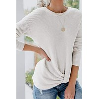 Jenna Thermal Knot Top
