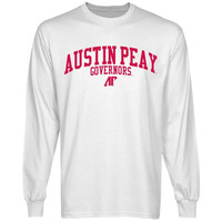 Austin Peay State Governors Team Arch Long Sleeve T-Shirt - White